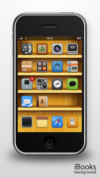 iBooks background for iPhone by bobjr