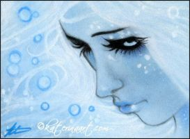 Mermaid Blues ACEO by Katerina-Art