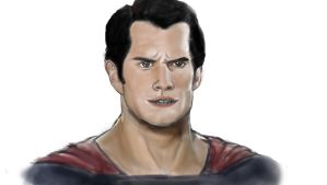 Man of Steel Henry Cavill (WIP) by GamerZzon
