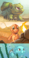 3DS Kanto Starters by Twarda8
