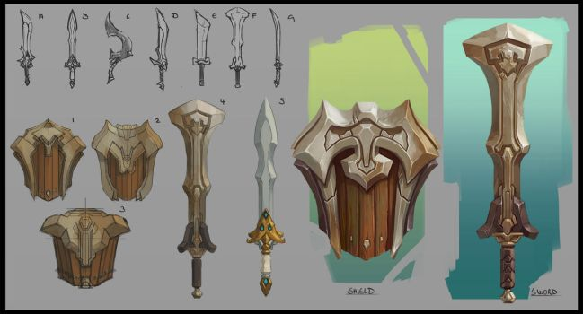 Sword and Shield sets by Domen-Art