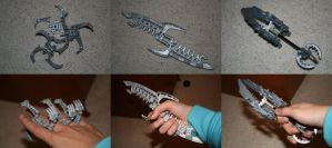 Bionicle MOC: Ninja Weapons by Rahiden