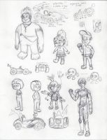 Wreck-it Ralph Character Study by Pikachu-And-Umbreon