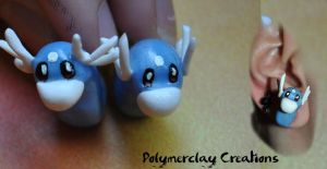 Dratini Plugs by PolymerclayCreations