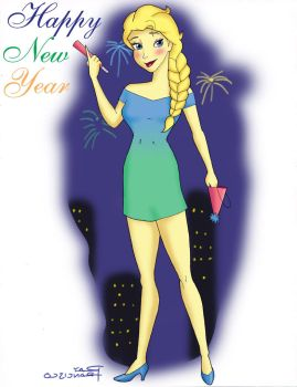 Elsa Happy New Year by Anime-Ray