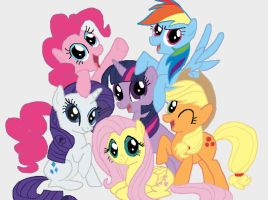 My Little Pony- Mane Six by DoctorTimmeh