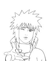 Minato - lineart by Jolly-Imp
