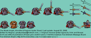 The Black Knight, Alondite and Ragnell GBA Sprites by MagnaValkyrion