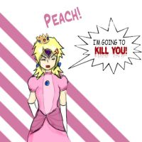 My sister as Peach by KrazyKell