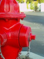 Red Fire hydrant by thaddman