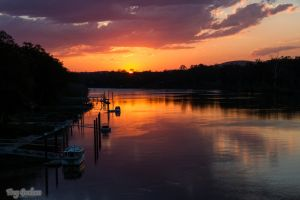 Sunset on the River by droy333