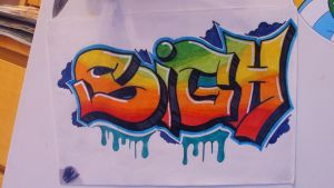 Sigh Graffiti by MazebyM