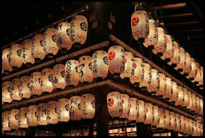 Lanterns in Kyoto by cartezch