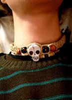 skull necklace. by blackbirdpie