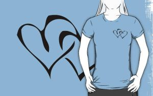 Two Hearts T-Shirt by drg