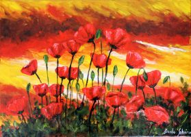 Coquelicots 2 by TheLittleCrow