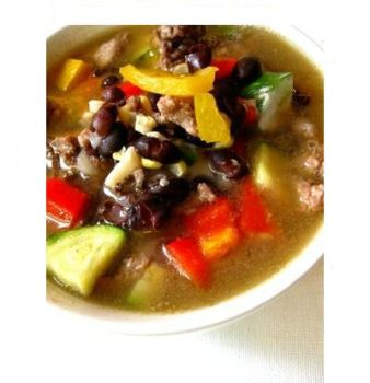Black Bean and Veggie Soup III by dAFoodies
