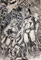Batman and Robin ( with INK ) by cristianosuguitani
