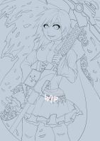 RWBY official lineart! Colored coming SOON! by Maxxie-Delu