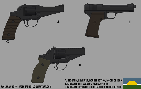 Sidearms of the Cockaygne Armed Forces by Wolohan2011