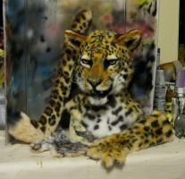 realistic leopard partial by Crystumes