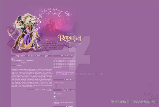 Rapunzel Blog Layout by Scarlet18