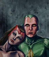Vision and Scarlet Witch by deanhsieh