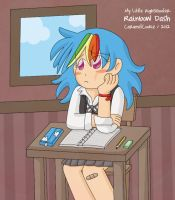 My Little HighSchooler - Dash by CaramelCookie