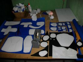 Megas XLR Project Extras:Arm Process 1 by MarcGo26