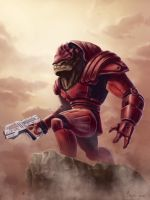 Urdnot Wrex - Mass Effect by mylesillustration