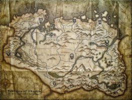 Large Skyrim Map by Solace-Grace