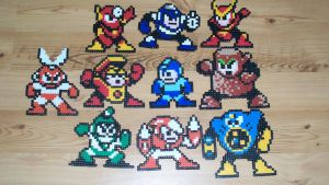 Megaman Bead Sprites by gfroggy87
