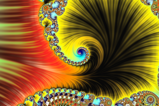 Solar Particles Form a Spiral by FlyingMatthew
