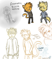 Kiro and Kazuo sketches by Astraltus