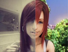 My resemblance to Kairi . obviously as a joke by KairiChan96