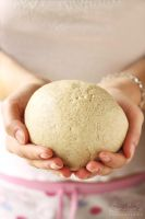 A dough in hands by kupenska