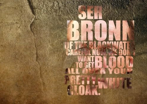 Ser Bronn by MattShadoinDesign