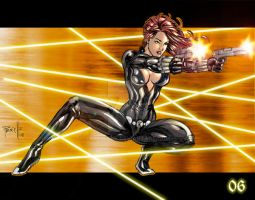 MarvelGirls Blackwidow color by Fpeniche