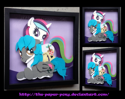 Commission: Castaway and Micka Shadowbox by The-Paper-Pony