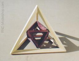 Tetrahedron with Octahedron by RNDmodels