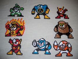 Megaman 2 Robot Masters by GoSkyKid