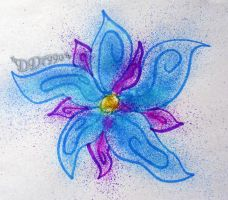 Airbrushed Flower by DD7990