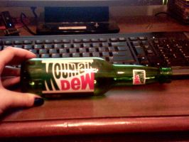 FOR SALE: Original Mount. Dew Bottle by SupernovaSword