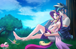 shining armor and Princess cadence by mauroz