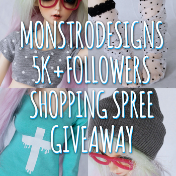 MonstroDesigns shopping spree giveaway! by MonstroDesigns