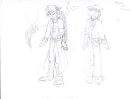 Cosplay Sketch: Steampunk Kuro/Dark Pit by VeneficusMagister