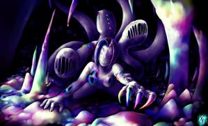 Rainbow monster of sweet nightmare / strange dream by EJsovereign