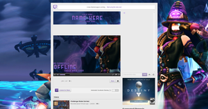 Twitch mock layout by Iycel