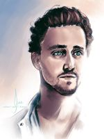 Tom Hiddleston - Angel by riotfaerie