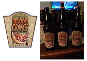 Blood Orange Hefeweizen Design with Bottles by DouggieDoo